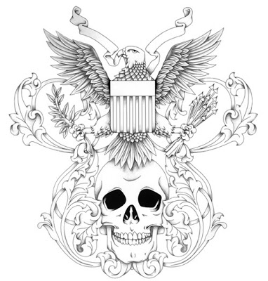 20 army skull tattoo designs for Skull and eagle tattoo