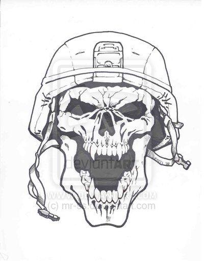 20+ Army Skull Tattoo Designs