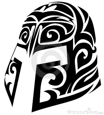16 latest helmet tattoo designs and ideas for Tribal warrior tattoos