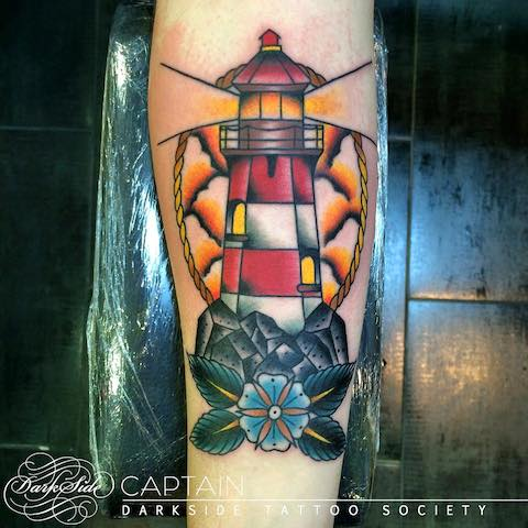 45 Neo Traditional Lighthouse Tattoos