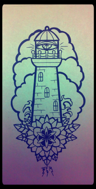 16 latest neo traditional lighthouse tattoos