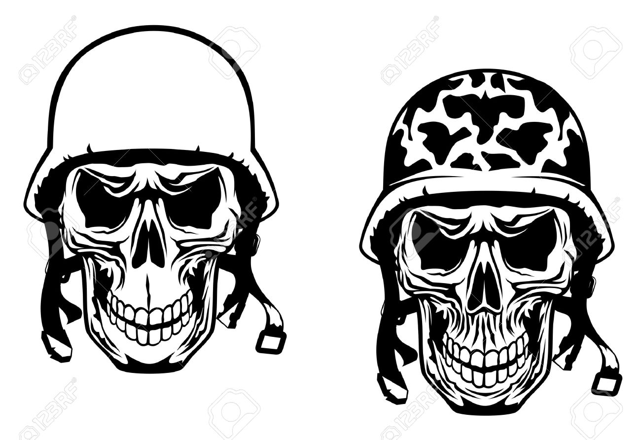 Gallery For gt Army Skull With Helmet