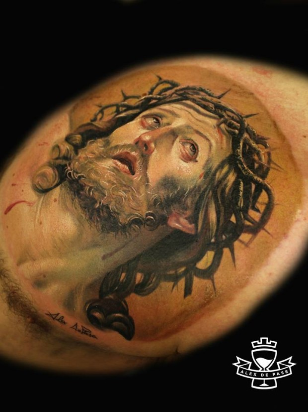 40 amazing religious christian tattoos. Black Bedroom Furniture Sets. Home Design Ideas