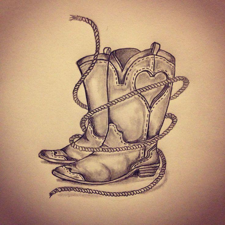 41 best cowboy boot tattoos. Black Bedroom Furniture Sets. Home Design Ideas