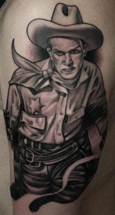 13 Cowboy Half Sleeve Tattoos