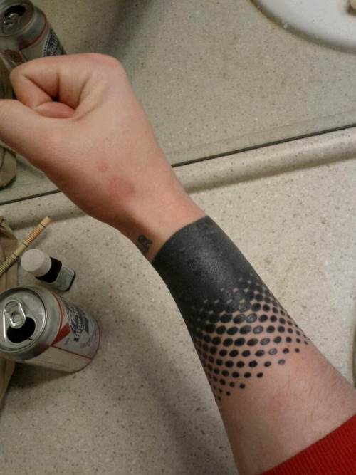 Amazing Solid Band Tattoo On Wrist