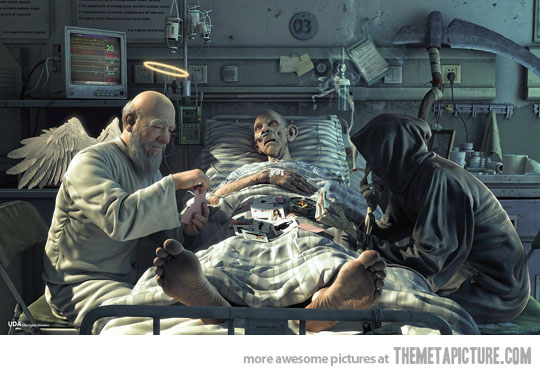 grim reaper ask guess who funny death picture