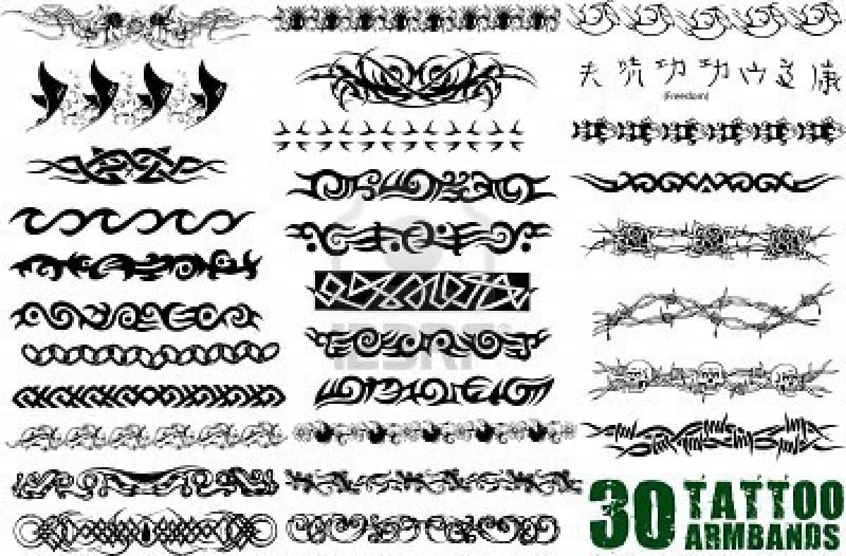 32 latest band tattoo designs and ideas attractive armband tattoo flash buycottarizona Choice Image