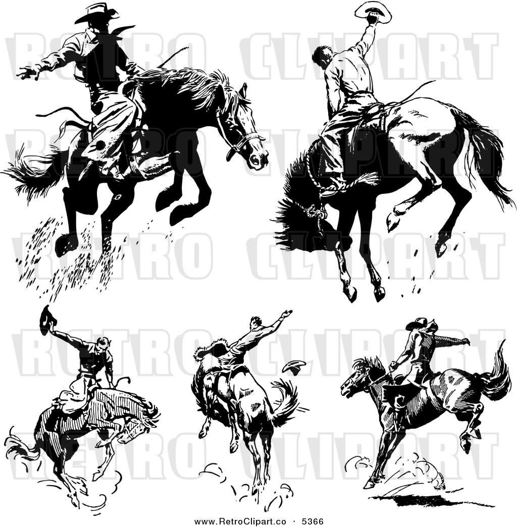 35 Wonderful Cowboy Horse Tattoos