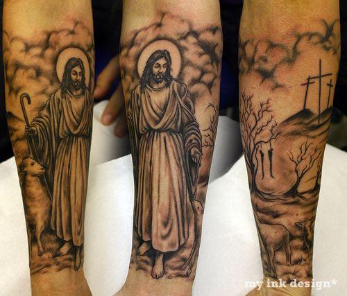 35 Christian Tattoos On Full Sleeve