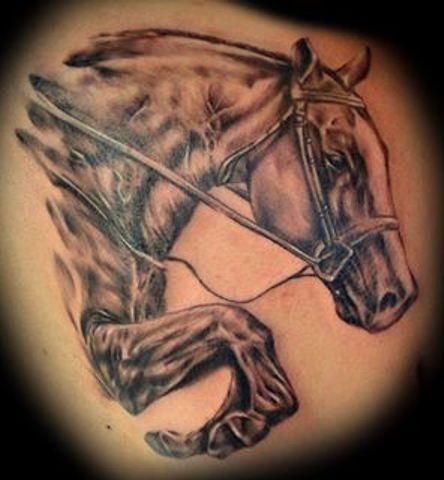 35 wonderful cowboy horse tattoos. Black Bedroom Furniture Sets. Home Design Ideas