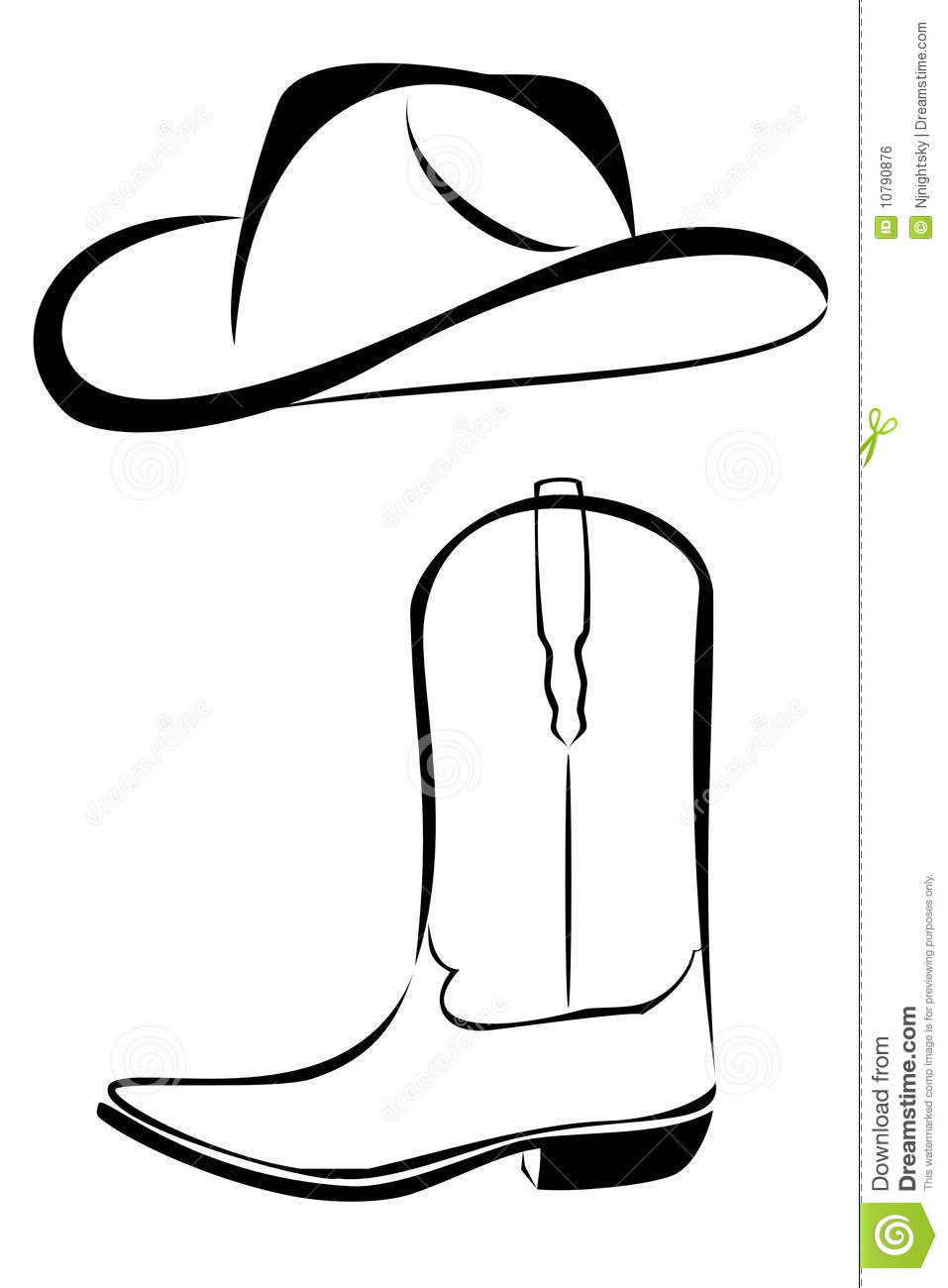 Line Drawing Hat : Best cowboy boot tattoos