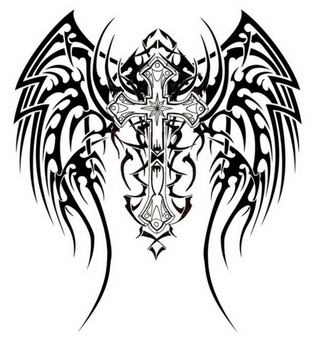 Tattoo Designs Wings: 25+ Fantastic Tribal Christian Tattoos