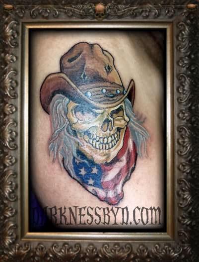 Skull With Cowboy Hat Tattoo 40+ Latest Cowboy Tatt...