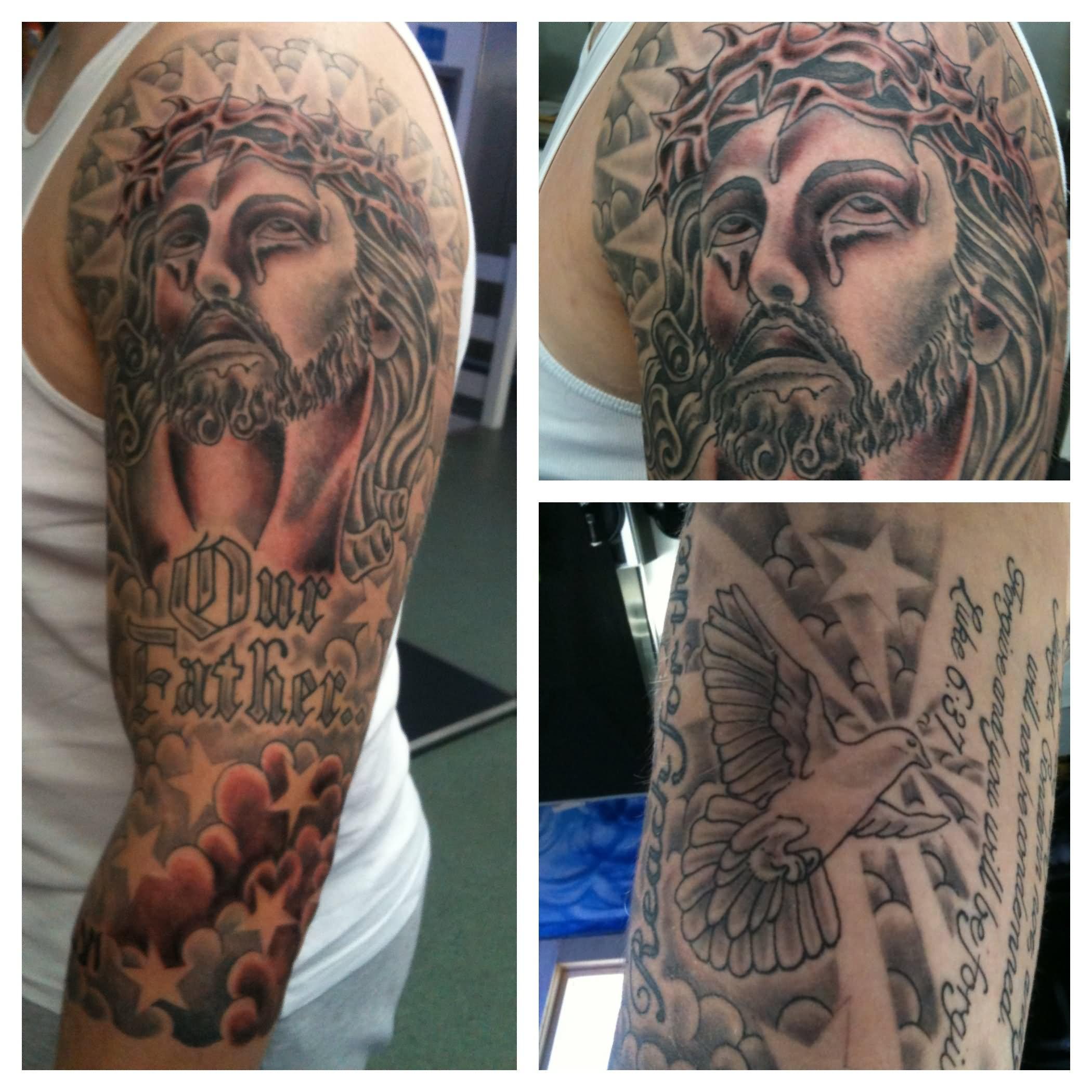 Face Sleeve Tattoo: 35+ Christian Tattoos On Full Sleeve