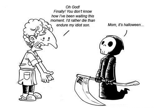 Funny Death Halloween Costume Cartoons Image