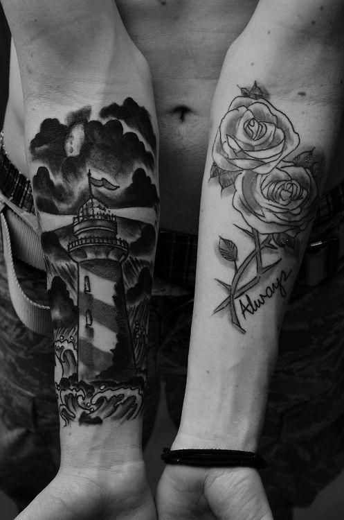 30+ Beautiful Lighthouse Tattoos On Forearm