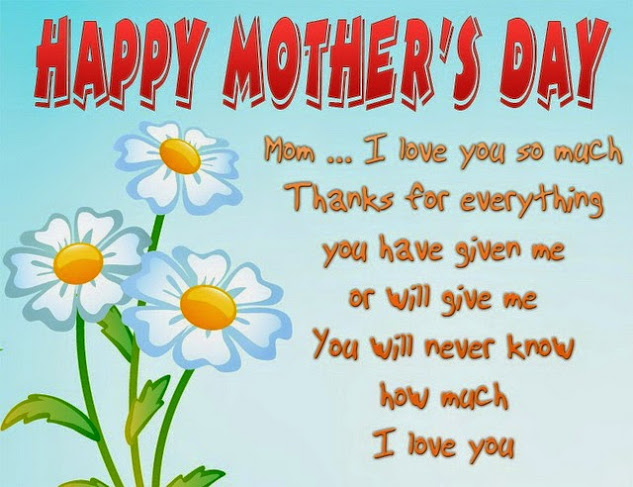 Happy Mothers Day 2014 Card Ideas: Happy Mother's Day Mom I Love You So Much