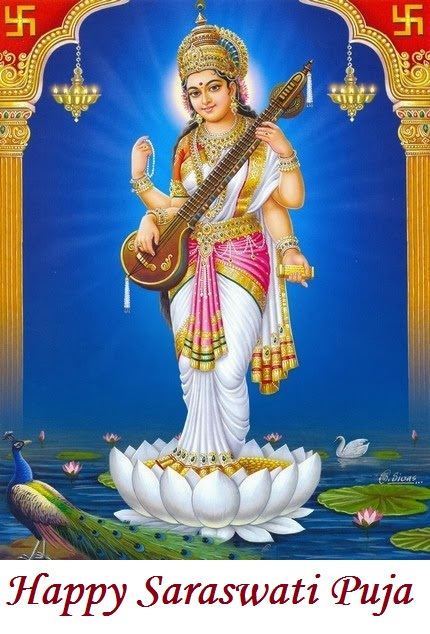 beautiful saraswati puja pictures images