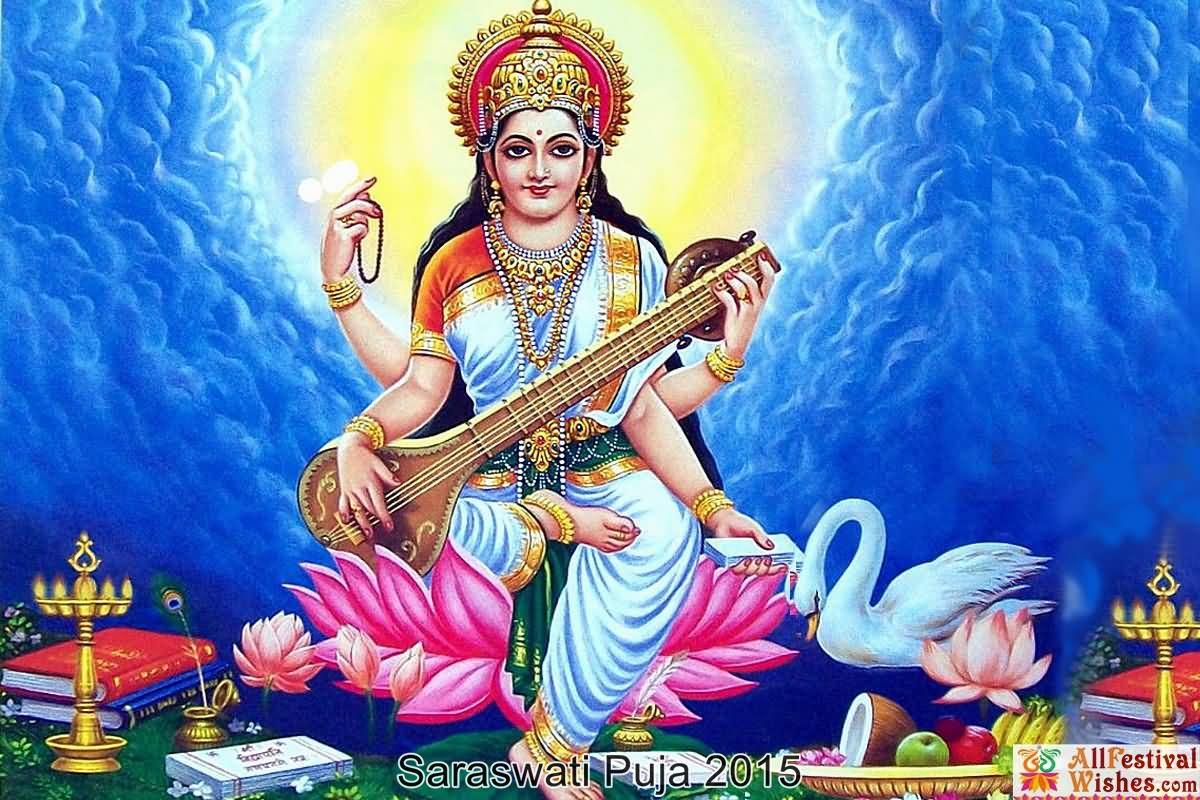 Happy Saraswati Puja Wishes Picture