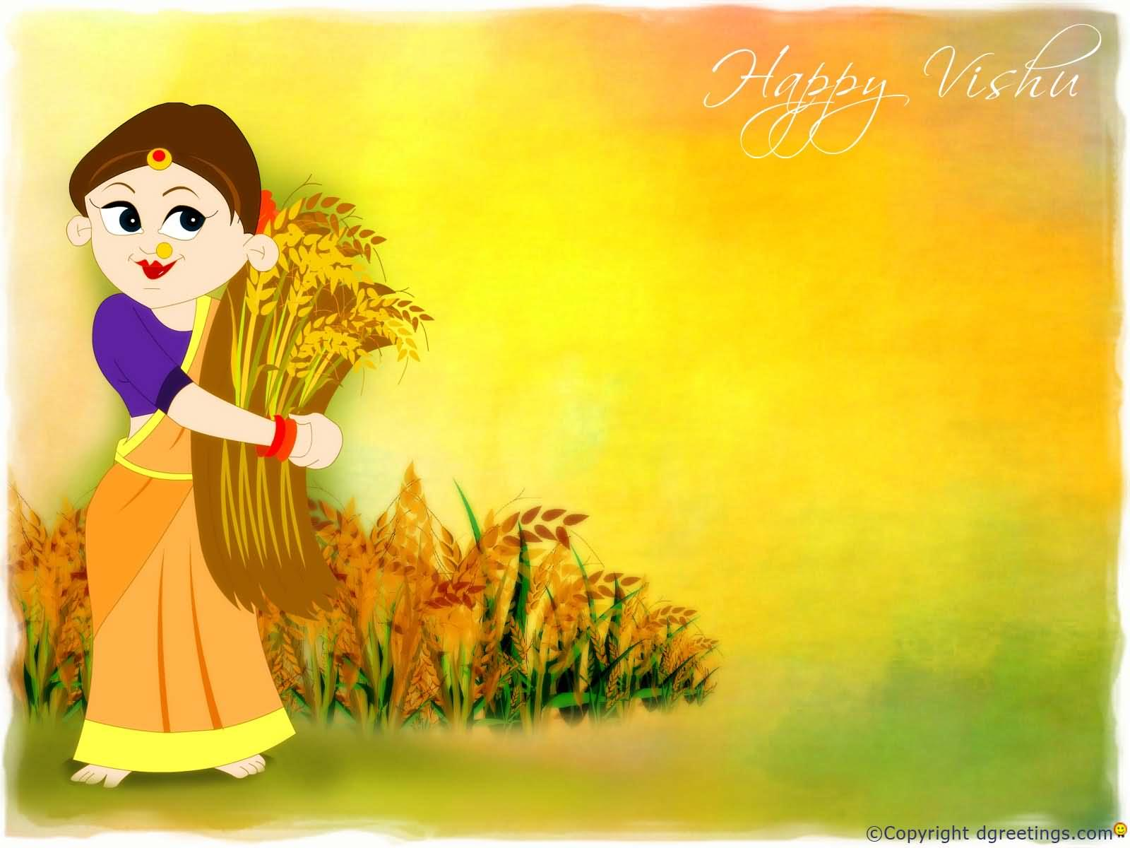 35 Very Beautiful Vishu Greeting Pictures And Photos