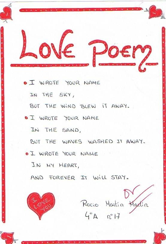 i wrote your name in the sky funny love poem picture for facebook