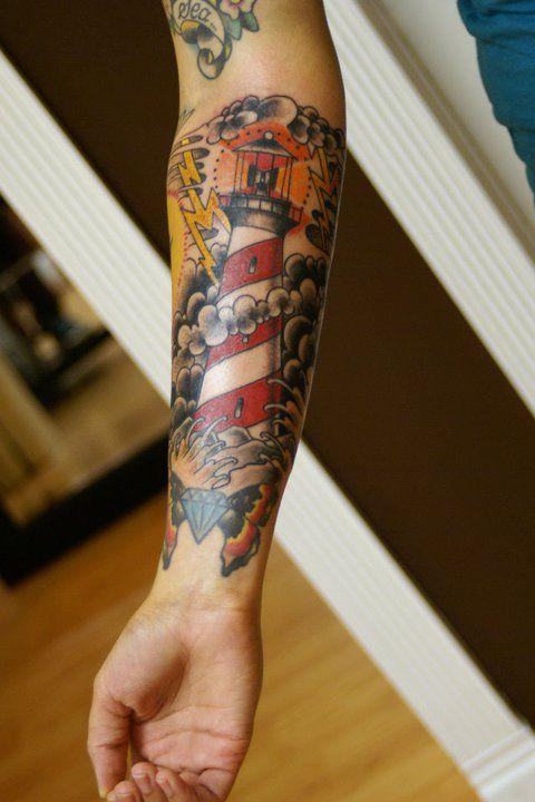Lighthouse Tattoo: 30+ Beautiful Lighthouse Tattoos On Forearm