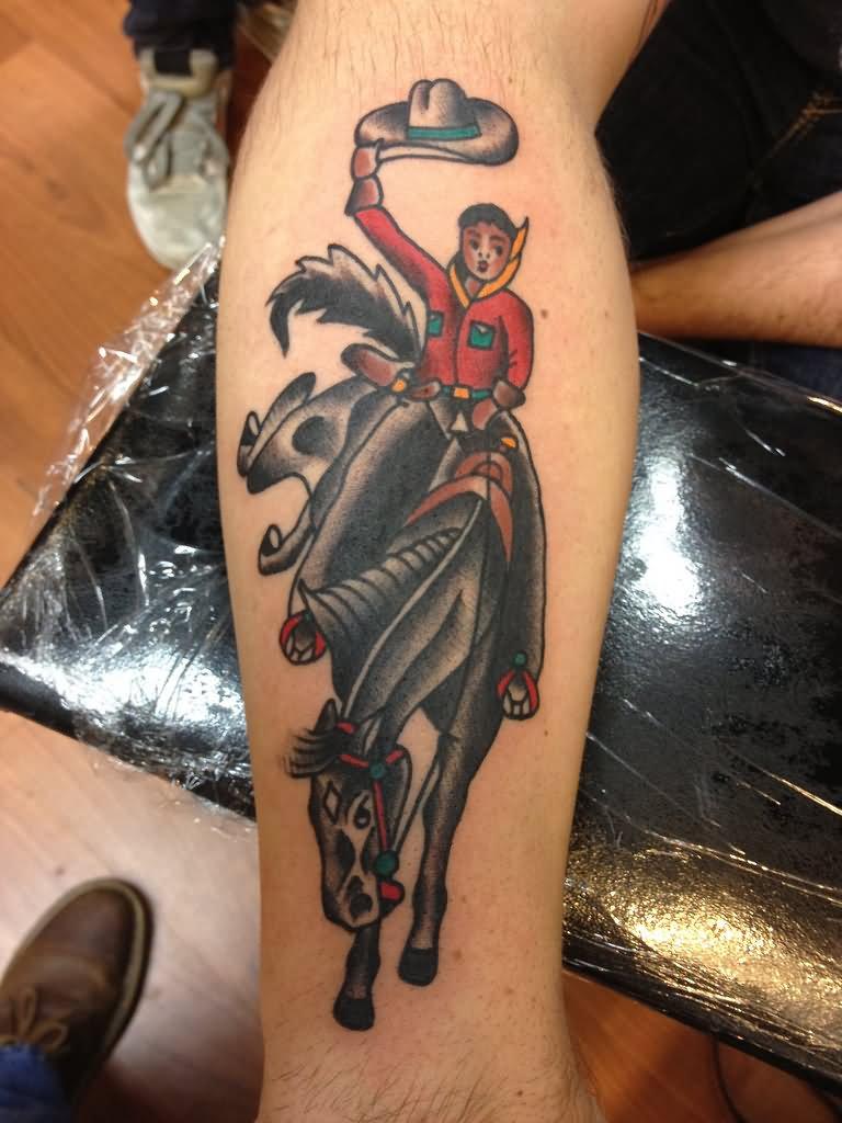 7 cowboy tattoos on forearm