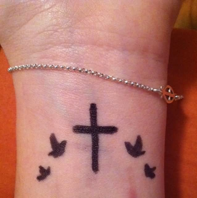 45 simple christian tattoos. Black Bedroom Furniture Sets. Home Design Ideas