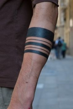 Solid Armband Tattoo Design For Forearm