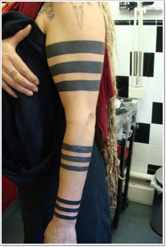Solid Armband Tattoo On Full Sleeve