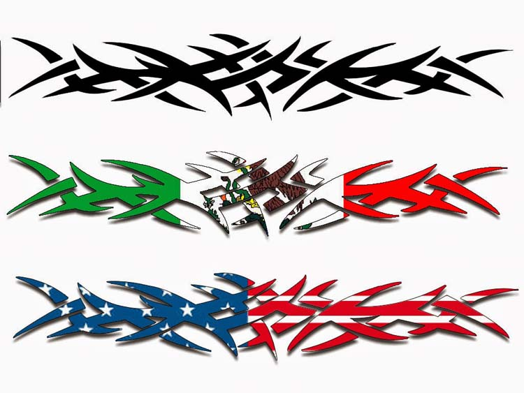 Solid Three Tribal Band Tattoo Design