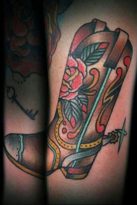 Cowboy Boots Tattoo Designs