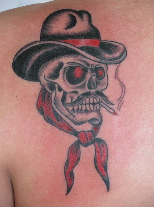Skull With Cowboy Hat Tattoo 28+ Traditional Cowboy...