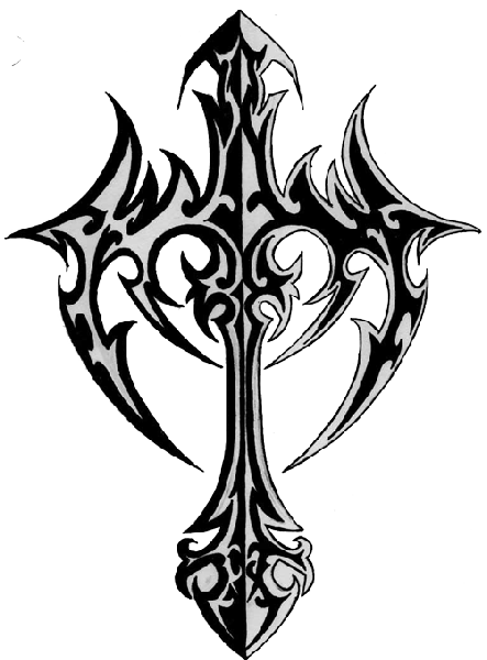 [Image: Unique-Black-Tribal-Christian-Cross-Tattoo-Stencil.png]
