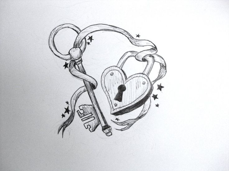 10 heart key tattoo designs for Lock and key decor
