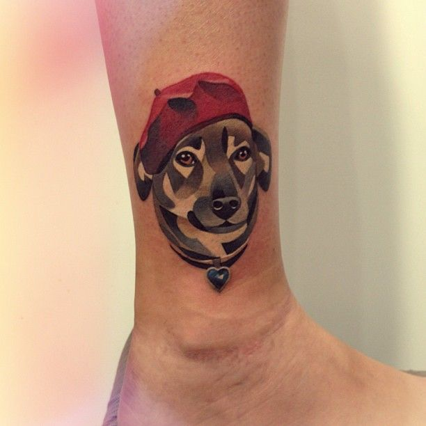 17 abstract dog tattoos for Tattoo of my dog