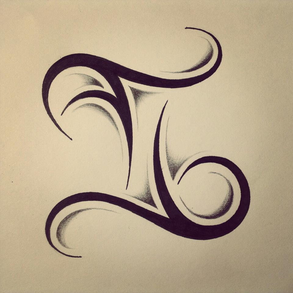 2fc5ae3a155a9 Amazing Black Tribal Gemini Zodiac Tattoo Design