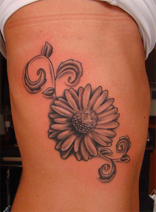 5 daisy tattoos on side rib. Black Bedroom Furniture Sets. Home Design Ideas