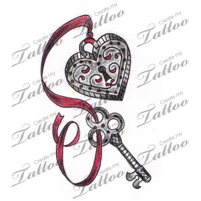 10 Heart Key Tattoo Designs