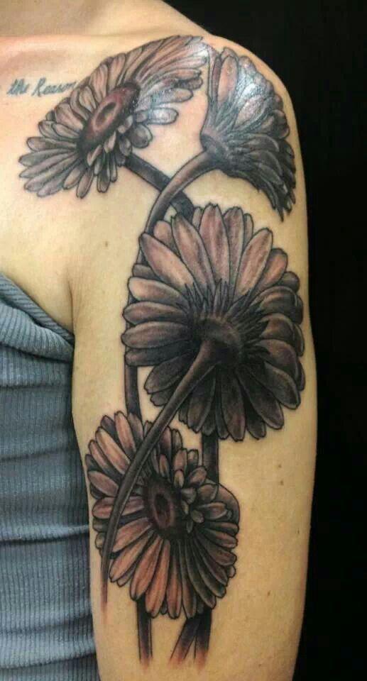 Daisy Thigh Tattoo