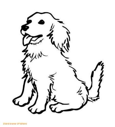 Line Art Dog Tattoo : Latest dog tattoo designs