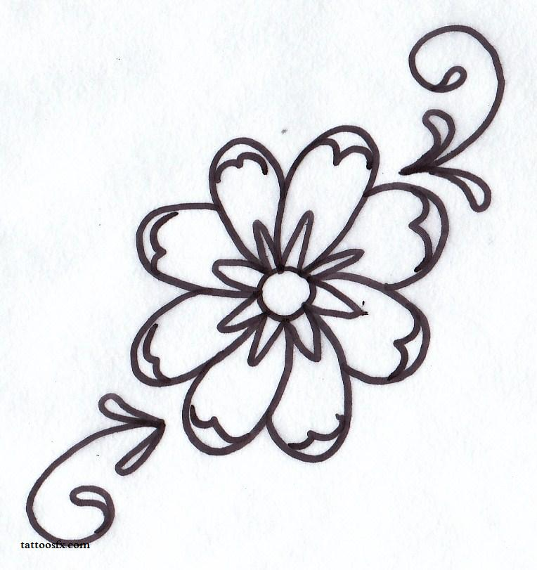 Tattoo Outlines Flowers Black And White: 20+ Daisy Tattoo Designs