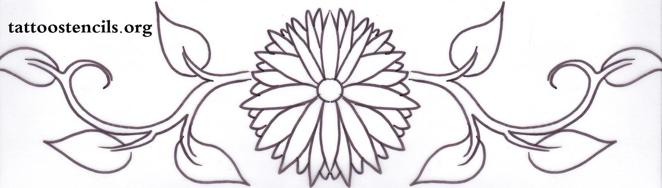 Daisy Tattoo Stencil