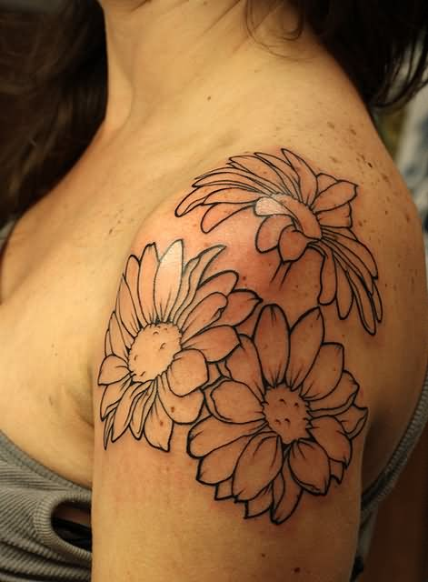 Flower Shoulder Tattoo Designs: 40+ Beautiful Daisy Tattoos On Shoulder