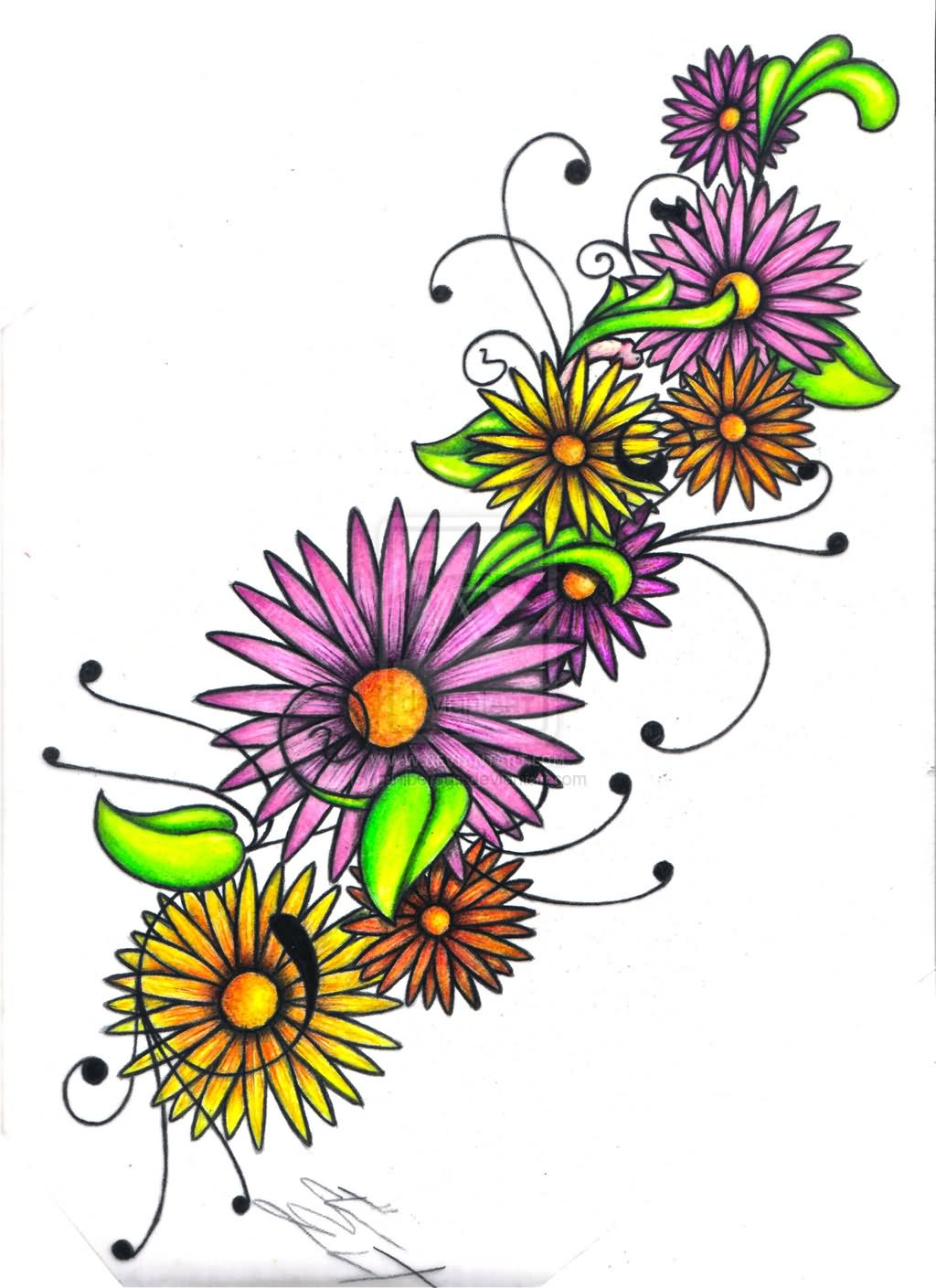 20 daisy tattoo designs