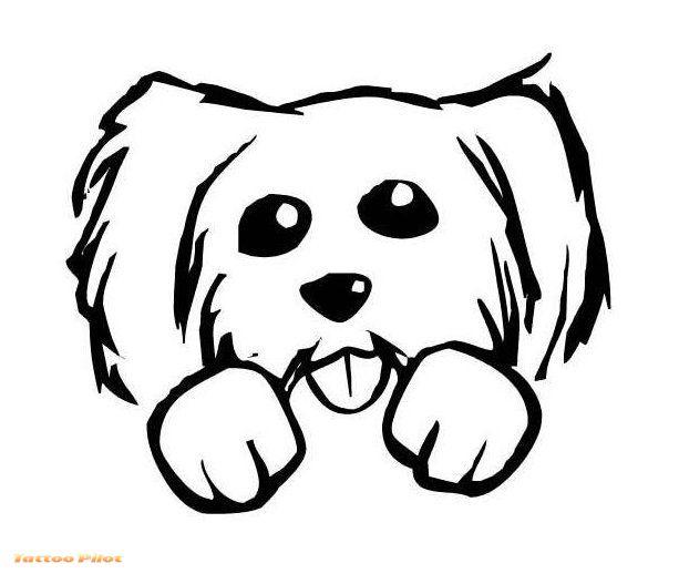 Cute Pitbull Stencil 18 Latest Dog Tattoo Designs