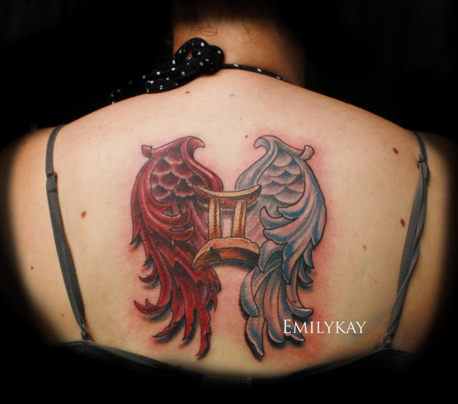 8+ Gemini Tattoos On Upper Back
