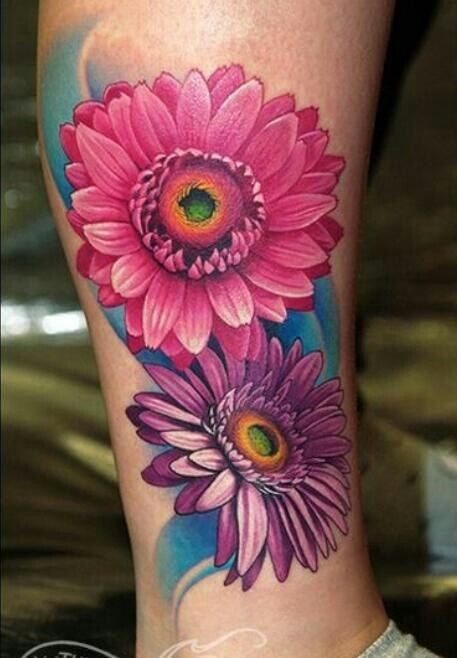 21 Sleeve Daisy Tattoos