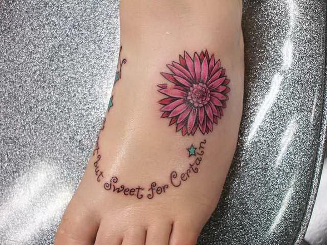 Purple Daisy Tattoo: 35+ Cute Daisy Tattoos